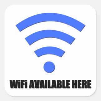 Wifiの利用できるここにステッカー スクエアシール