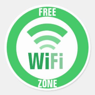 WiFiの自由な印 ラウンドシール