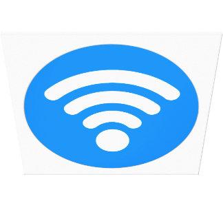 Wifiの記号 キャンバスプリント