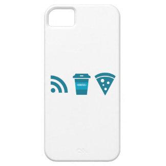 Wifiコーヒーピザ iPhone SE/5/5s ケース