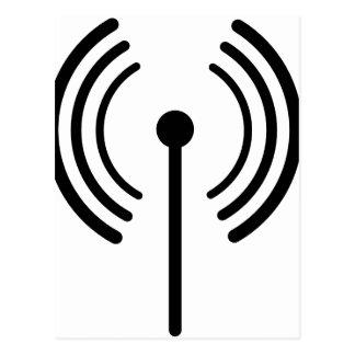 WiFi信号のデザイン ポストカード