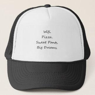Wifi。 ピザ。 スエットパンツ。 大きい夢 キャップ
