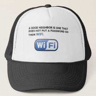 WIFI. 隣人 キャップ