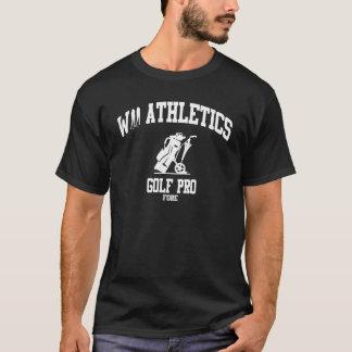 Wiiの運動競技によって傷つけられる予約ゴルフ暗闇のワイシャツ Tシャツ