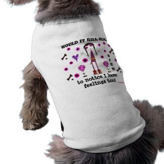 WIKH犬のTシャツ私は感覚を有しますも! ペット服