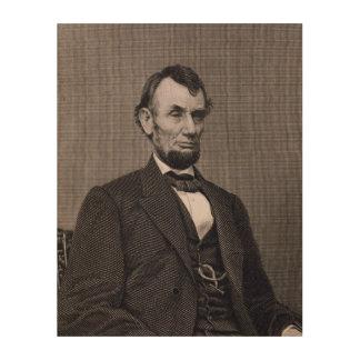 Wil著写真から刻まれるエイブラハム・リンカーン ウッドウォールアート