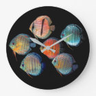 Wild Discus fish ラージ壁時計