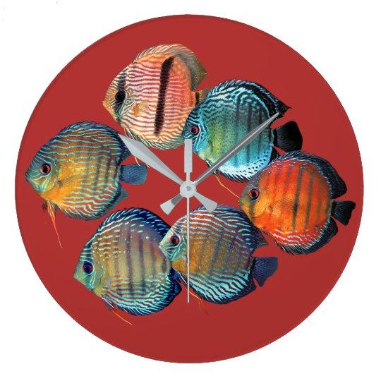 Wild Discusfish ラージ壁時計