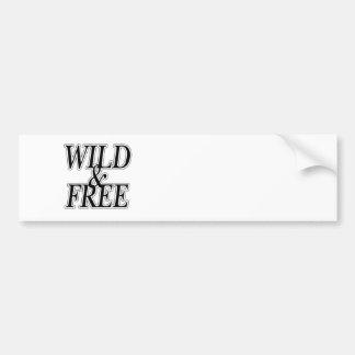 Wild&free バンパーステッカー