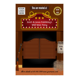 Wild West Corporate Function add logo ポスター