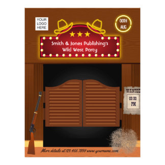 Wild West Corporate Function add photo and logo チラシ