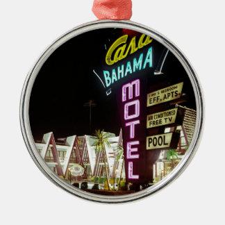 Wildwood、ニュージャージーの60年代の家のBahamaのモーテル メタルオーナメント