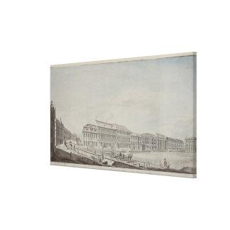 Wilhelmsplatz、c.1773の西の面 キャンバスプリント