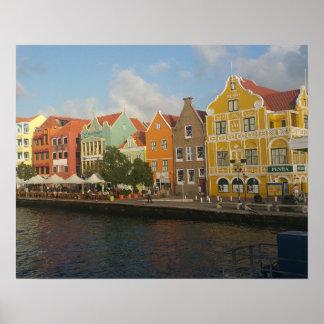 Willemstadカラフルなクラサオ島ポスター ポスター