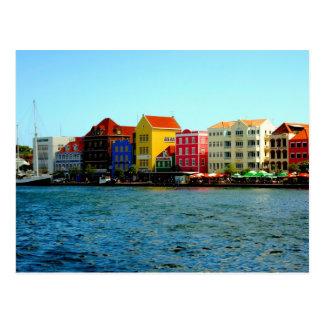 Willemstadクラサオ島の郵便はがきの港 ポストカード