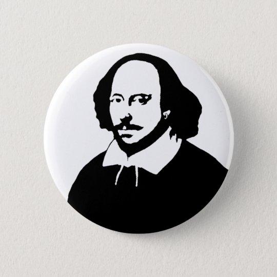 William Shakespeare 5.7cm 丸型バッジ