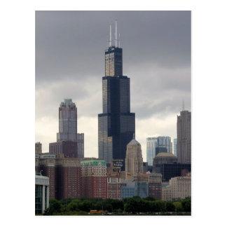 Willisタワー-シカゴ、イリノイの郵便はがき ポストカード
