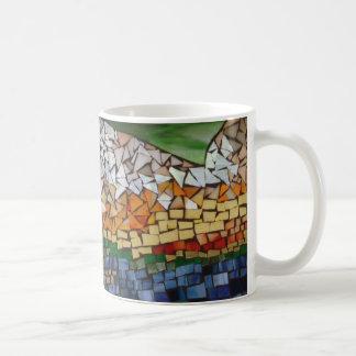 Willowcatdesigns著山のモザイクマグ コーヒーマグカップ