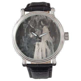Willowcatdesigns著花嫁のダンスの絵画の腕時計 腕時計