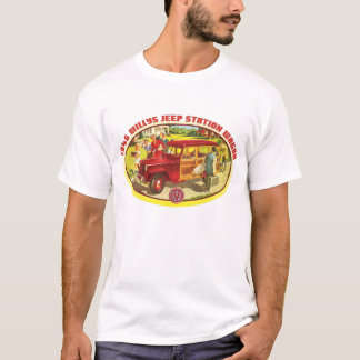 Willys 1946の木質ワゴン tシャツ