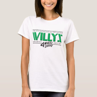 Willys 4WDの緑の女性 Tシャツ