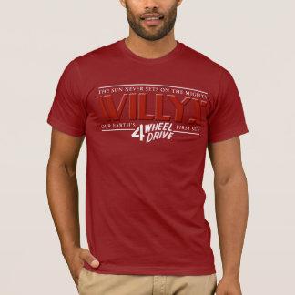 Willys 4WDの赤のワイシャツ Tシャツ