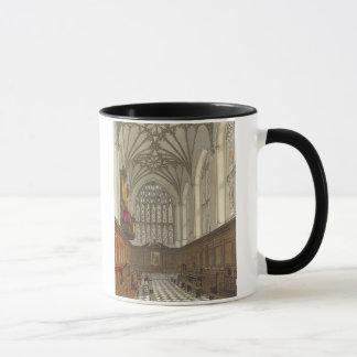 「Wincheの歴史からのウィンチェスターの大学チャペル、 マグカップ