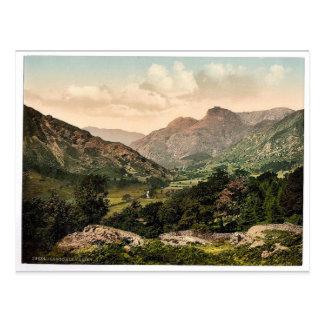 WindermereのLangdaleの谷、湖地区、Englan ポストカード