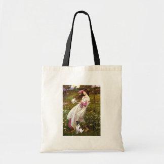 Windflowers -滑らかなフォックステリア犬 トートバッグ