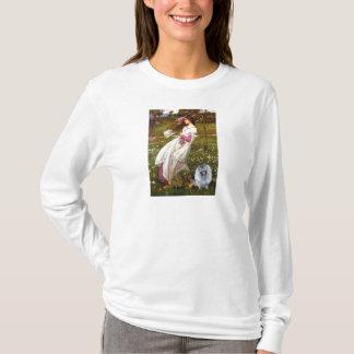 Windflowers - (f) Keeshond Tシャツ