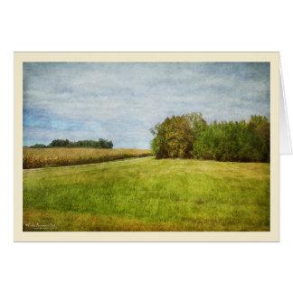 Winding Road Through Cornfields カード