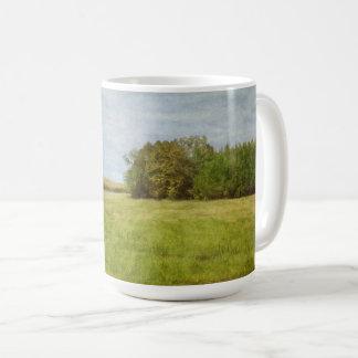 Winding Road Through Cornfields コーヒーマグカップ