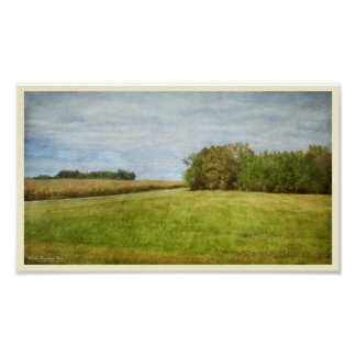 Winding Road Through Cornfields ポスター