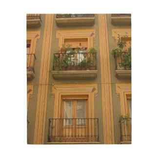 Windowsの建物の写真の木製の壁の芸術 ウッドウォールアート