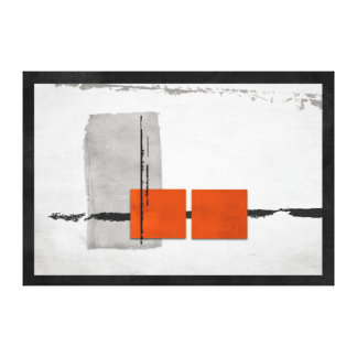 Windowsの硬直した最小主義のモダンなオレンジおよび灰色 キャンバスプリント