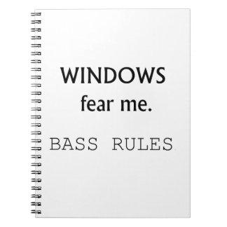 Windowsは私を低音の規則のベースギターのデザイン恐れています ノートブック