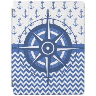 Windroseエレガントな航海のな沿岸パターン iPadスマートカバー
