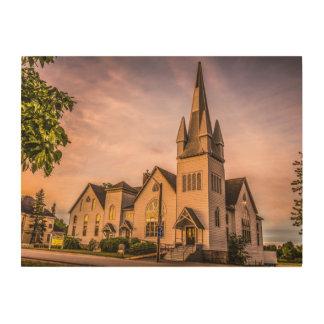Windsor、ノバスコシアHDRのバプティスト教会 ウッドウォールアート