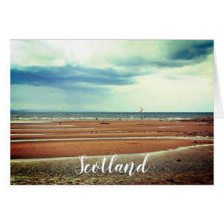 Windsurfing in Scotland, greeting card カード