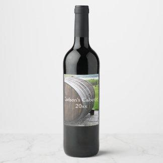 Wine Cask Design Wine Label ワインラベル