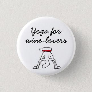 Wineloversの白のバッジのためのヨガ 3.2cm 丸型バッジ