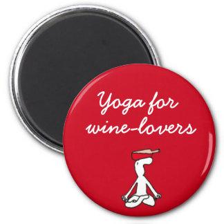 Wineloversの赤の磁石のためのヨガ マグネット