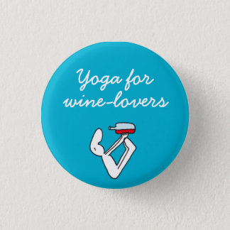 Wineloversの青のバッジのためのヨガ 缶バッジ