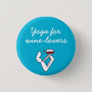 Wineloversの青のバッジのためのヨガ 3.2cm 丸型バッジ