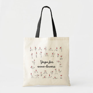Winelovers Totebagのためのヨガ トートバッグ