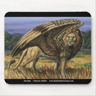 Winged Lion Mousepad日曜日王の マウスパッド