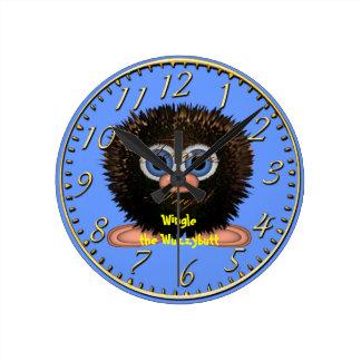 Wingle Wuzzybuttの子供のおもしろいの漫画の時計 時計