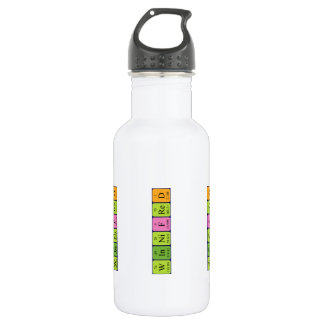 Winnifredの周期表の名前の水差し ウォーターボトル