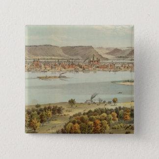 Winona、ミネソタ 5.1cm 正方形バッジ