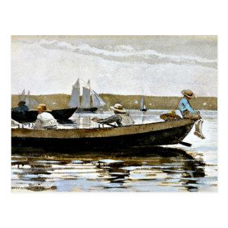 Winslowホーマー-小舟の男の子 ポストカード